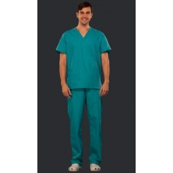 Pijama quirúrgica en gabardina caballero