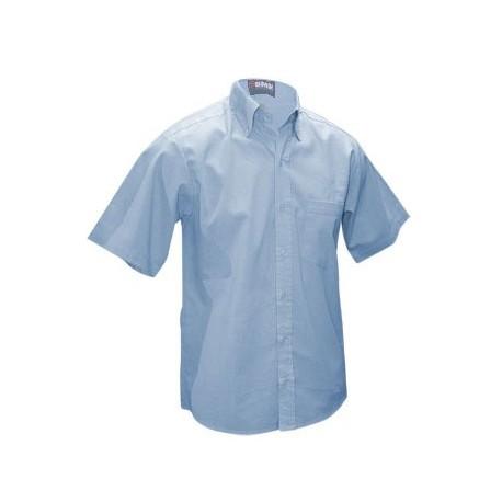 12 Camisas Manga Corta en Tela Oxford CON LOGO AL FRENTE 4 colores