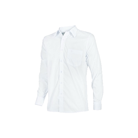 12 Camisas Manga Larga en 100% Algodon CON LOGO EN BLANCO/NEGRO