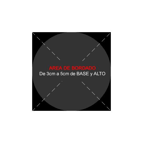 Bordado Circular 6 a 10 cm Diametro. De 2 a 6 colores