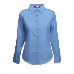 Blusa en Tela Oxford Manga Larga