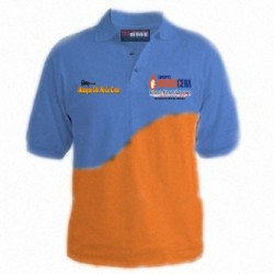 Playera polo combinada